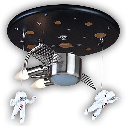 Deckenleuchte Astronaut Spaceman Kunststoff Metall Modern Hängeleuchte Kinderlampe Kreative Design Leuchte Pendelleuchte Innen Decke Dekorative Mädchen Junge Kinderzimmer Schlafzimmer Lampe Ø40 CM
