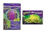 Teenage Mutant Ninja Turtles Inflatable 20' Beach Ball Pool Toy Plus Bonus TMNT 1pk Splash Goggles!