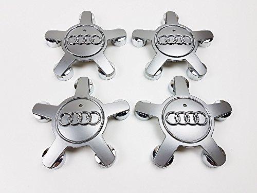 4x Nabenkappe, für 16, 17 und 18 Zoll Leichtmetallrad, 4F0601165N, mit Logo.