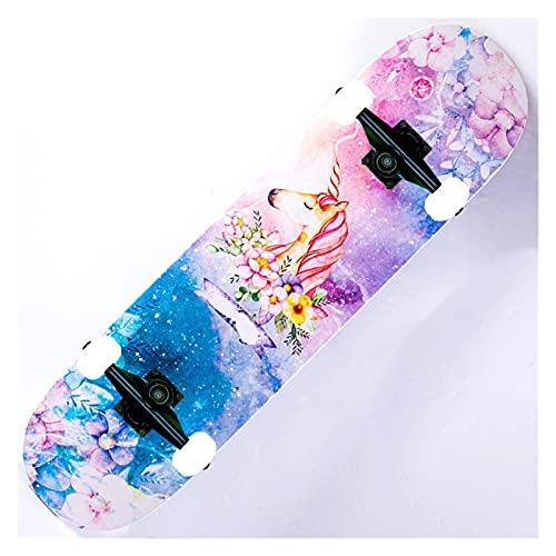 Skateboard Grip Tape Skateboards, 80CM20CM10CM Skateboards for Adults U Teenagers,Maple Cruiser Skate Board, Including Truck, 95A Car Line Wheel, Back Pattern for Skateboard,Rollerboard,Scooter ect