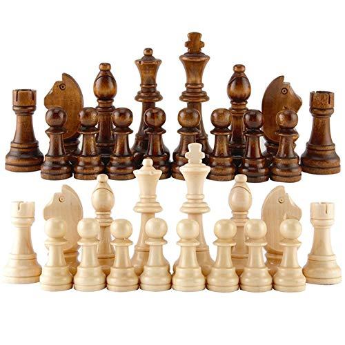 XJS Juego de ajedrez 12 Unids 55-91mm De Madera Pieza De Ajedrez Internacional Padre-niño Interacción Puzzle Toy Regalo Niños Juegos De Ajedrez Actividad Familiar para niños Adultos (tamaño : 55mm)