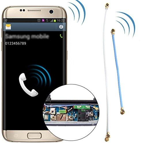 Notebook Ersatz Kit Paar Kabel weiß und blau Flat Flex Cable Signal Antenne Koaxialkabel mit Stecker für Plug Mainboard für Samsung Galaxy S7Edge G935g935F g935fd