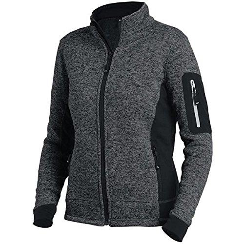 FHB 79596-1220-XL Damen Strick-Fleece-Jacke Marieke Größe XL in anthrazit-schwarz