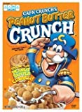 Quaker, Cap'n Crunch, Peanut Butter Crunch Cereal, 12.5oz Box (Pack of 4)
