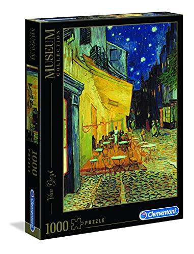 Clementoni- Van Gogh-Esterno di caffè di Notte Museum Collection Puzzle, Colore Neutro, 1000 Pezzi, 31470