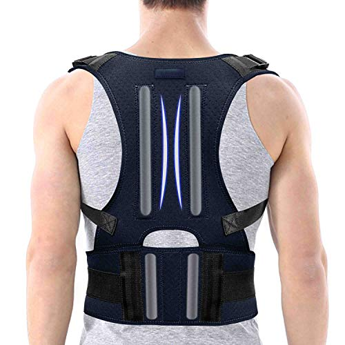 SYOSIN Haltungskorrektur, Geradehalter zur Haltungskorrektur, Geradehalter Rückenstütze für Damen Herren und Kinder, verstellbare Träger Hilfe bei Nacken-, Schulter- und Rückenschmerzen (Medium)