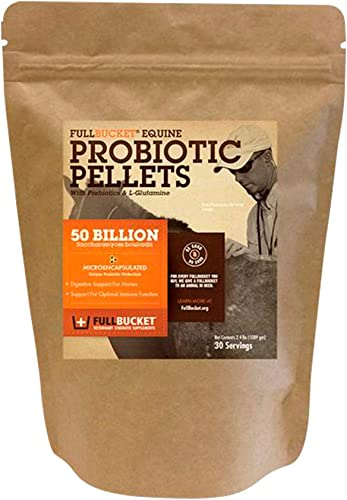 discount FullBucket Equine Probiotic high quality Pellets with high quality Saccharomyces boulardii for Horses Under High Stress or for Horses with Ongoing Digestive Issues; 20x More Concentrated and 25 Billion CFUs outlet online sale