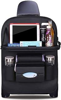 DOBEST Car Seat Back Organizer Foldable Dining Table Holder Tray Bottles Holder Multifunctional Protector Storage Bag Kick...