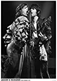 Rolling Stones Poster Mick Jagger & Keith Richards LIVE ON