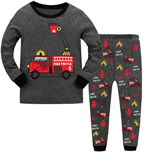 GSVIBK Boys Pajamas Kids Long Sleeve 2 Piece Pajama Sets Cotton Sleepwear for Toddler PJS Clothes product image