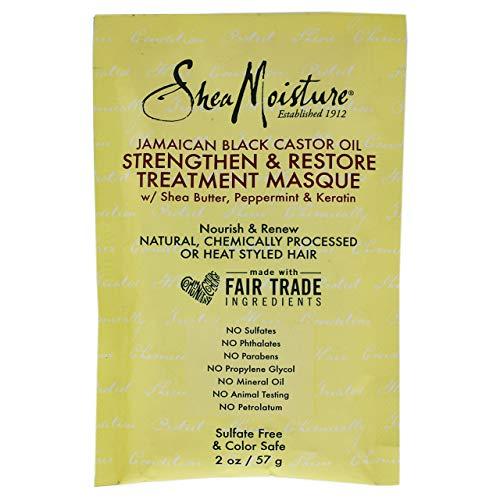 Shea Moisture Jamaican Black Castor Oil Strengthen-Grow and Restore Treatment Masque, 2 Ounce