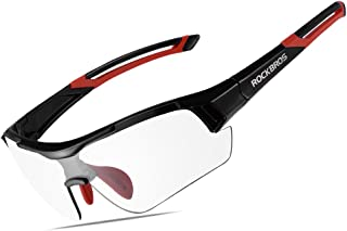 RockBros Photochromic Sunglasses for Men Women Safety Cycling Glasses UV Protection Outdoor Sport Sunglasses