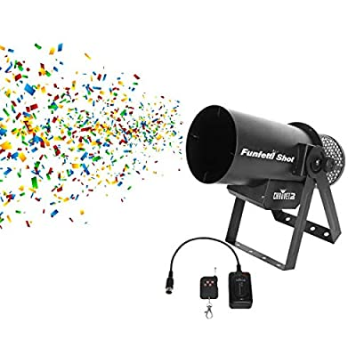 CHAUVET DJ FunFetti Shot Professional Confetti Launcher w/Wireless Remote for Concerts, Parties, and Special Events