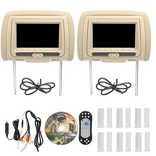 Auto muziekspeler, 7 in auto dvd-speler Draagbare dvd-speler Universele auto hoofdsteun dvd-videospeler met USB/FM/IR/GAME