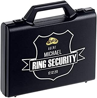 Personalized Ring Security Case - Ring Bearer Case Box - Agent - Wedding - Pillow Alternative