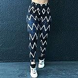 bayrick Caliente en Europa y América,Línea geométrica Impresión Digital Pantalones de Yoga Hips Sexy Nueve Pantalones-A_L