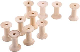 木製 ボビンスプール ウッドスプール 空の糸スプール ナチュラルウッドカラー 47mmx31mm 純粋天然製品 精細加工品 糸状物保管 収納 DIY加工可能 多用途 家庭収納 糸収納 10個セット