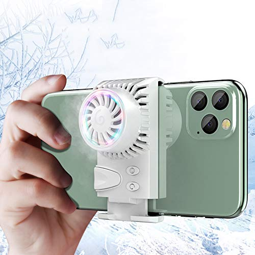 Lihgfw Mobile Phone Radiator Koeling Patch Cooling Semiconductor kleine ventilator luchtgekoelde Three-speed aanpassing Wind Speed ​​Snap Type (Color : White)