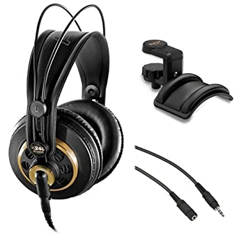AKG K 240 Studio Professional Semi-Open Stereo Headphones with Auray Headphone Holder and 25  Extension Cable