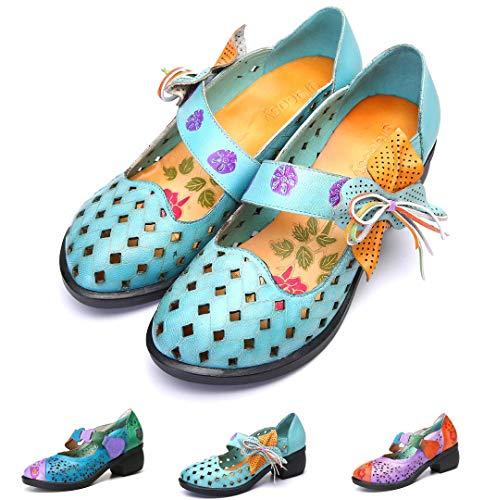 gracosy Mocassins Cuir Femmes, Chaussures de Ville...