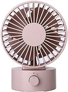 Mdsfe Mini portátil silencioso Ventilador de Escritorio USB hogar Oficina eléctrico oscilante Mesa Enfriador más Vendido - Rosa