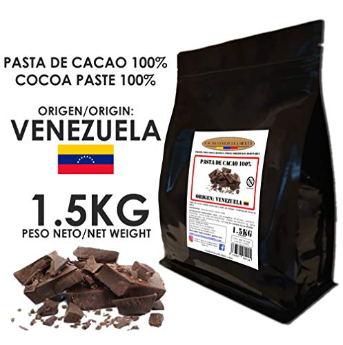Cacao Venezuela Delta - Cioccolato Fondente Puro al 100% · Origine VENEZUELA (Pasta, Massa, Liquore di Cacao al 100%) · 1,50kg