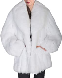 معطف شتوي من الفرو الصناعي للنساء معطف فرو الثعلب معطف طويل من الفرو الاصطناعي معاطف خارجية للنساء معطف الفراء سترة
