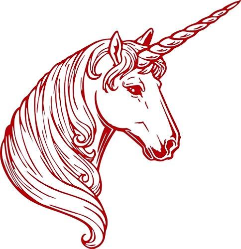 Wandaufkleber,Wandtattoo Fantasy Einhorn Magic Horse Auto Lkw Wand Laptop Vinyl Aufkleber Aufkleber Removable Home Decor 30X30Cm