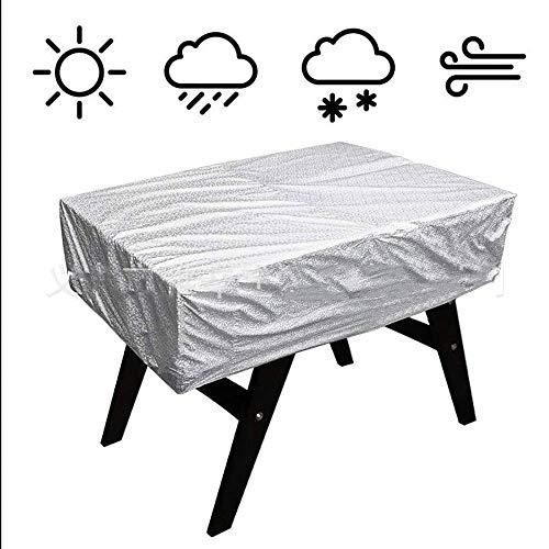 liangh Schutzhüllen Cover Für Billard Tisch,Wasserdicht Staubdicht Schneeschutz Für Billardtisch,Schwarz,163 * 115 * 48cm,Silver