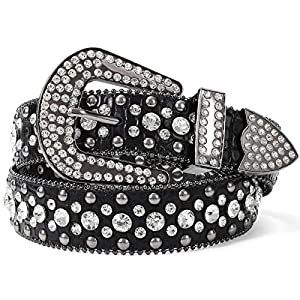 Western Cowgirl Studded Leather Belt 19