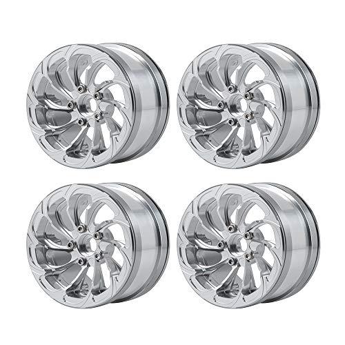 Que-T 4Pcs Metal 2.2'' Beadlock Wheel Rims for Wraith SCX10 90046...
