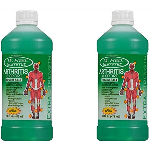 Dr Fred Summit Arthritis & Sport Rubbing Alcohol, Wintergreen, 2 Pack