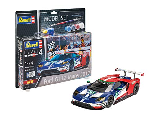 Revell Model Set voiture Ford GT accessoires échelle 1/24-88 pièces 24 h du Mans Maquette, 67041, Bleu