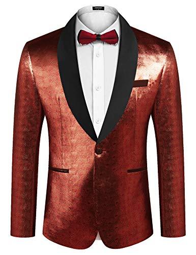 Men's Herringbone Tweed Blazer British Wool Blend Sport Coat Jacket M Dark Grey