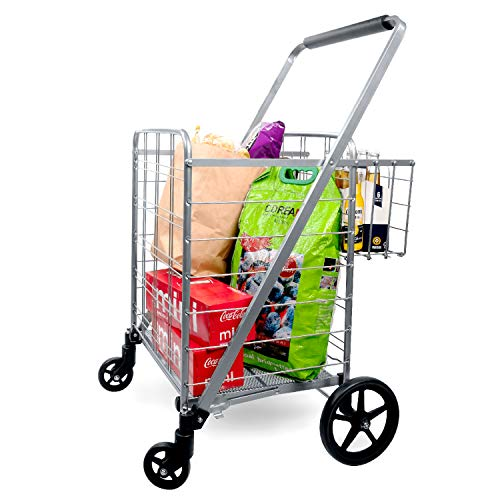 Supenice Jumbo Shopping Cart with Double Basket Grocery Cart 160 lbs...