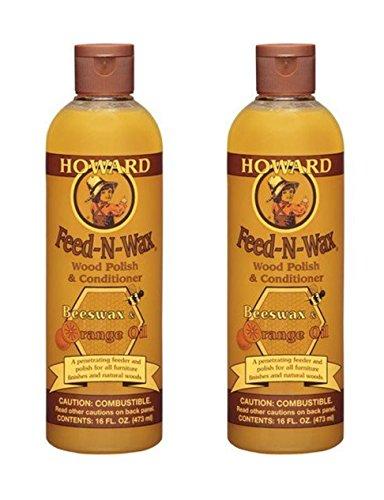 Howard Feed-n-Wax Wood Polish & Conditioner Beeswax Polish 16oz (2)