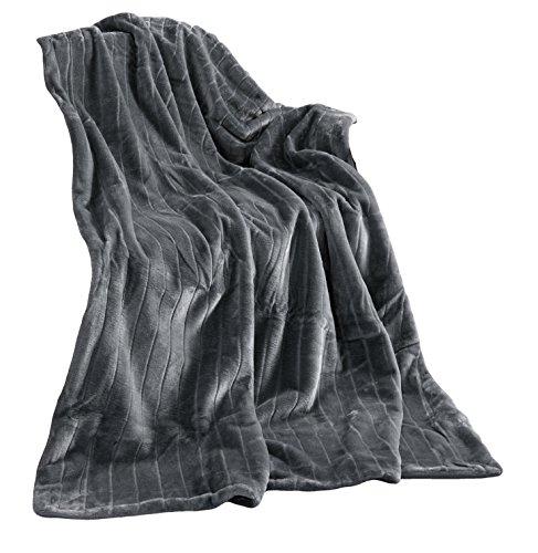 Haute Qualité Plaid Imitation Fourrure, Taupe/Brun Claire, Plaid 150 X 200 Vison Couverture Plaid Couvre-lit Fausse Fourrure