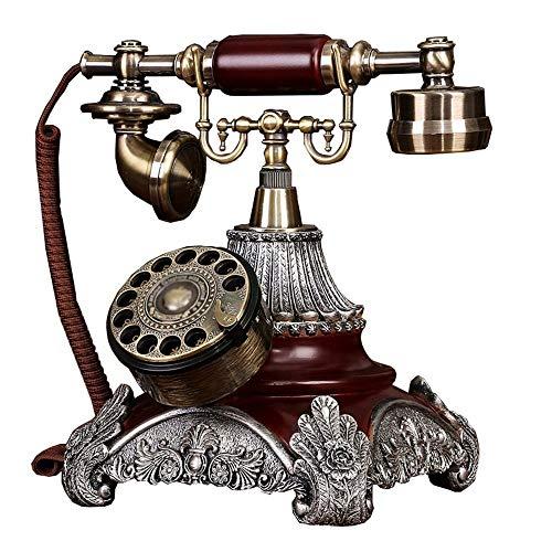 LY88 Traditionele telefoon, Telefoon Amerikaanse Roterende Klassieke Telefoon Retro Vintage Europese Retro Huishoudelijke Stoel Vaste Telefoon