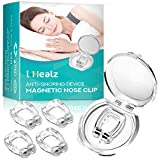 i-Healz Magnetic Anti Snore Nose Clip - Medical Grade Soft Silicone - Stop Snoring Solution - 4 Pack