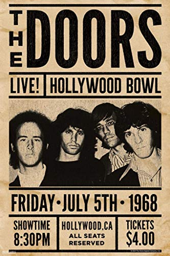 Pyramid America The Doors Live at Hollywood Bowl Jim Morrison Classic Rock Music Band Retro Vintage Cool Wall Decor Art Print Poster 24x36