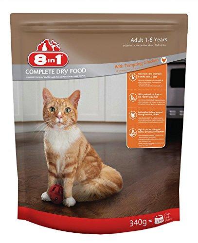 8in1 Katze Trockenfutter Erwachsen, Huhn Größe 340g