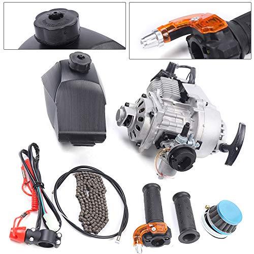 2 Stroke 47CC 49CC Pull Start Racing Engine Motor Kit Starter w/Fuel Tank for Mini Dirt Pocket Rocket Quad Motor Dirt Bike Scooter ATV High Performance USA STOCK (Style 2)