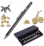 Magnetic Fidget Pen Toy Magnet Gel Pen Fidget Toy Think Ink Pen, can be Transformed into a Variety of Creative for Adult and Children Stress Relief Office Product (Black)