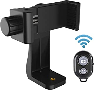 AFAITH Cell Phone Tripod Mount Plus Shutter Remote, Phone Holder Adapter Selfie Monopod with Adjustable Clamp for iPhone X...