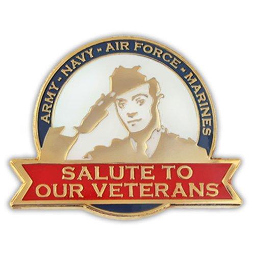 PinMart Salute to Our Veterans Lapel Pin