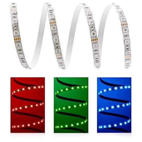 0,5 m LED Strip Stripe à LED RVB Bande (60 LED/m, protection IP20) – connecteur Fiche à 4 broches