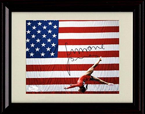 Framed Women's Gymnastics Autograph Replica Print - 2016 Olympics - Simone Biles