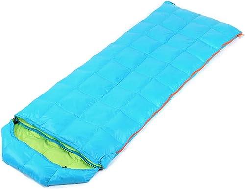 Antler monster Sac de Couchage, enveloppe Portable et légère, Convient au Camping 4 Saisons, à la randonnée, aux Voyages, à la randonnée et aux activités de Plein air,bleu