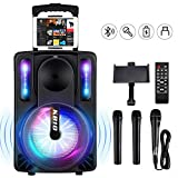 Karaoke Machine for Kids & Adults, SEAPHY DJ Lights 10'' Woofer BT Connectivity Rechargeable PA System-Audio...