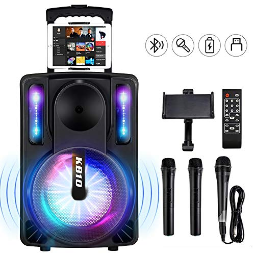 Great Deal! Karaoke Machine for Kids & Adults, SEAPHY DJ Lights 10'' Woofer BT Connectivity Recharge...